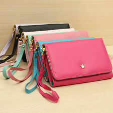 Premium Crown Wristlet Leather Wallet Case Cover For Apple iPhone 6 Plus (5.5)