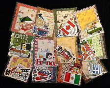 Travel Country Vacation 30 lot Embellishment paper die cut images scrapbooking