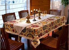 """86""""X55"""" Rectangle Cotton Table Cloth Table Cover For Kitchen 030"""