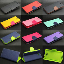 Dual Color Deluxe Wallet Leather Flip + TPU Case Cover For Various Sony Phone