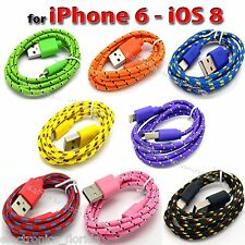 8 Pin USB Data Sync Charger Cable Cord for iPhone 6 6 plus 5 5S 5C iPod Touch 5