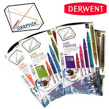 Derwent Graphik Line Painter Marker Pen Pack Set of 5 NEW