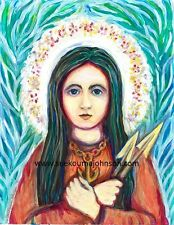 St Philomena—Wonder Worker—Girl Martyr—Archival Print—Catholic Art Gift