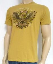 Lucky Brand Fortmiae Filius Tee Mens Gold 100% Cotton T-Shirt New NWT