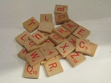 RED ORIGINAL WOOD SCRABBLE TILE LETTER REPLACEMENT CRAFT SCRAP BOOKING A-Z  K J