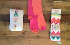 GYMBOREE Smile Knee High Socks Pink Orange Tights Wild About Horses NWT