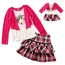"""Dollie & Me Sz 7 8 10 12 14  and 18"""" doll matching outfit fit american girl"""