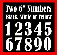 Two 6 inch numbers for wheelie bin - recycle bins,  house and garage numbers