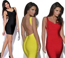 Women New Sexy  Backless Cocktail Party Evening Stretchy Bandage Bodycon Dress