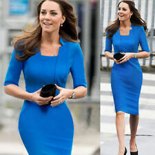 Women Celebrity Bodycon Wear to Work Career Business Party Shift Pencil Dress