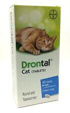 DRONTAL CAT TABLETS WORMER DE-WORMING AGAINST PARASITES CONTROL MADE IN GERMANY