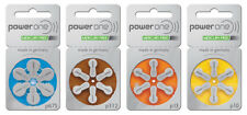 PowerOne Hearing Aid Batteries Type: p10, p13, p312, p675