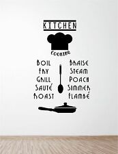KITCHEN WORDS vinyl wall art QUOTE sticker dining food wine cooking name