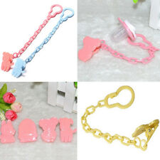 Cute Baby Infant Dummy Pacifier Soother Chain Clip Holder Toddler Toy Gift