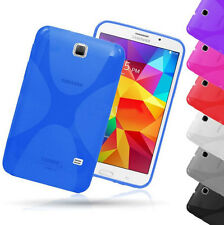 "Screen Protector/X Style Skin Soft Gel Back Case For  Samsung Galaxy Tab 4 7"" 8"""