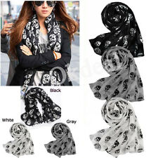 Fashion Accessories Skull Head Soft Long Wrap Scarves Shawl Scarf for Womens