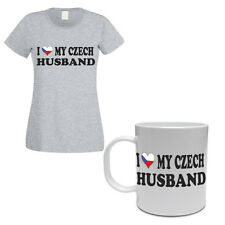 I LOVE MY CZECH HUSBAND - Czech Republic / Gift / Women's T-shirt & Mug Set