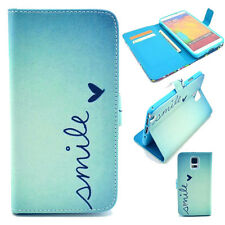 Cute Love Hybrid Leather Card Stand Wallet Flip Cover Case for Samsung Galaxy