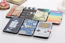 7 Choice Eiffel Tower/Big Ben/Video Wallet Flip PU Leather Case for Sony Phones