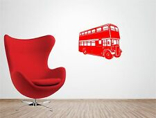 Iconic LONDON BUS vinyl wall art QUOTE sticker transport