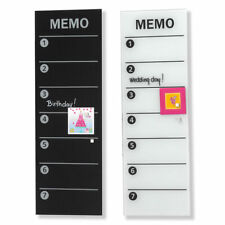 Naga 60x20cm Wall Mountable Magnetic Glass Board Memo Notes/Write on/off/magnets