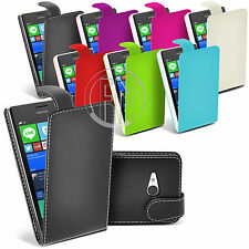 LEATHER CASE FLIP CASE COVER POUCH FOR NOKIA LUMIA 730 / 735