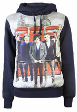 One Direction Hoodies Ladies 1D Sweatshirt  Girls Tops Jumper Teenager uk london