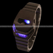 Creative Men  LED Watch with Snake Head Shaped Dial Steel Watchband US Shipping
