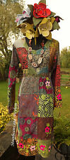 ♥ ~ PERFECT NEW PATCHWORK BOHEMIAN DRESS SIZE UK 10 12 14 16 BOHO HIPPY TIE DYE