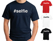 HASHTAG #SELFIE INSTAGRAM PICTURE COTTON T SHIRT HIPSTER TUMBLR MEN WOMEN KIDS