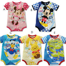 NEW Disney Baby Toddler Boys Girls Romper Summer Bodysuit Outfit Clothes 6-24M