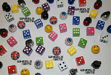 Bike Bicycle Motor Dice EYE Ball Union Jack Grenades Valve Caps Dust Cap Dustie