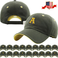 ABC Letter Embroidery INITIAL Adjustable Snapback Cap Leather Strap Baseball Cap