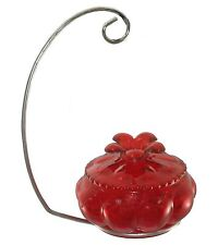 Hand-blown Glass Hummingbird Feeder (Holiday Special)