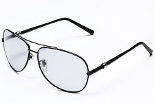1X New Style Polarized Transition Photochromic Metal SUNGLASSES Mens Black /Gray