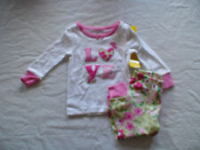 NWT GYMBOREE LOVE FLORAL FLOWERS PINK WHITE GREEN GYMMIES PAJAMAS PJS