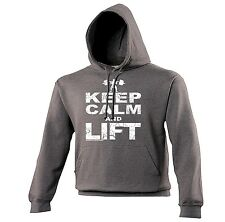 KEEP CALM AND LIFT HOODIE ★ tank gym body building fitness gold's Sex Weights
