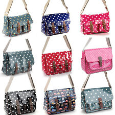 Oilcloth Polka dots Cars Stars Satchel Shoulder Bag Messenger