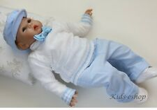 Baby Boy White Blue Smart Knitted Outfit Christening Wedding Formal Party 0-18M