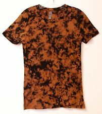 Tye Dye Women's Short Sleeve Shirt - Dyed in the USA Cotton Pumpkin