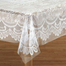 """New ~ Clear Vinyl Table Cover Cloth Protector """"ALL SIZES"""" Round Oblong Rectangle"""