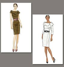 Very Easy Vogue 8630 Large Collar 50s 60s Retro Dress Sewing Pattern V8630