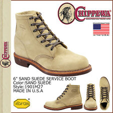 "Chippewa 6"" 1901M27 Sand Suede Service Men Boots NEW Size US  8.5  9  9.5 10"