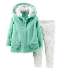 Carter's 3 6 9 12 18 24 mos Mint Fleece Hoodie & Leggings Set Baby Girl Clothes