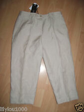 EPISODE HUMMUS SILK LINEN CROP TROUSERS  SIZE 8 NWT RRP£80