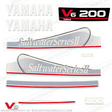 Yamaha 200hp Saltwater Series II Carbureted Outboard Decal Kit Decals In Stock