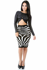 Zebra on the Run Skirt Casual Cocktail Party Popular Fashion giti online