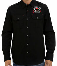 Affliction Black Premium - REMEMBER MY NAME  - Men's Dress Shirt - NEW - Black