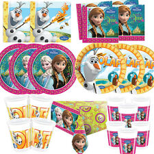 Disney Frozen Anna Elsa Olaf Birthday Party Tableware, Plates, Cups, Napkins !!