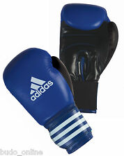 Adidas Club Leather Boxing Gloves Blue MMA Muay Thai Sparring 10oz 12oz